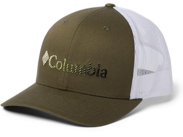 Columbia Mesh Snap Back Gorra, new olive/white